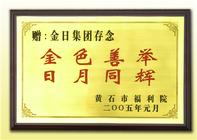 2005黄石市福利院:金色善举 日月同辉